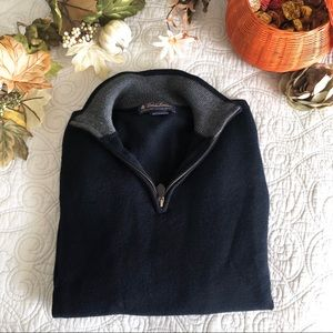 Brooks Brothers | Navy Half-Zip Pullover Sweater
